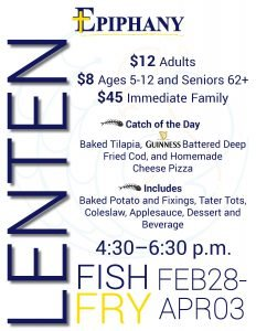 Fish Fry Fridays @ Epiphany Cafeteria