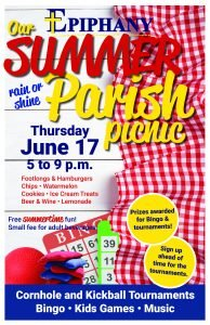 Our Summer Parish Picnic @ Epiphany Grounds